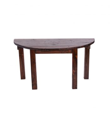 60 in Mahogany Half Moon Table - A Chair Affair