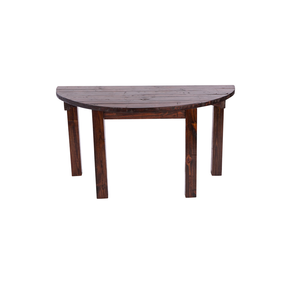 "Half Moon Table 60"" mahogany half moon table - a chair affair, inc."