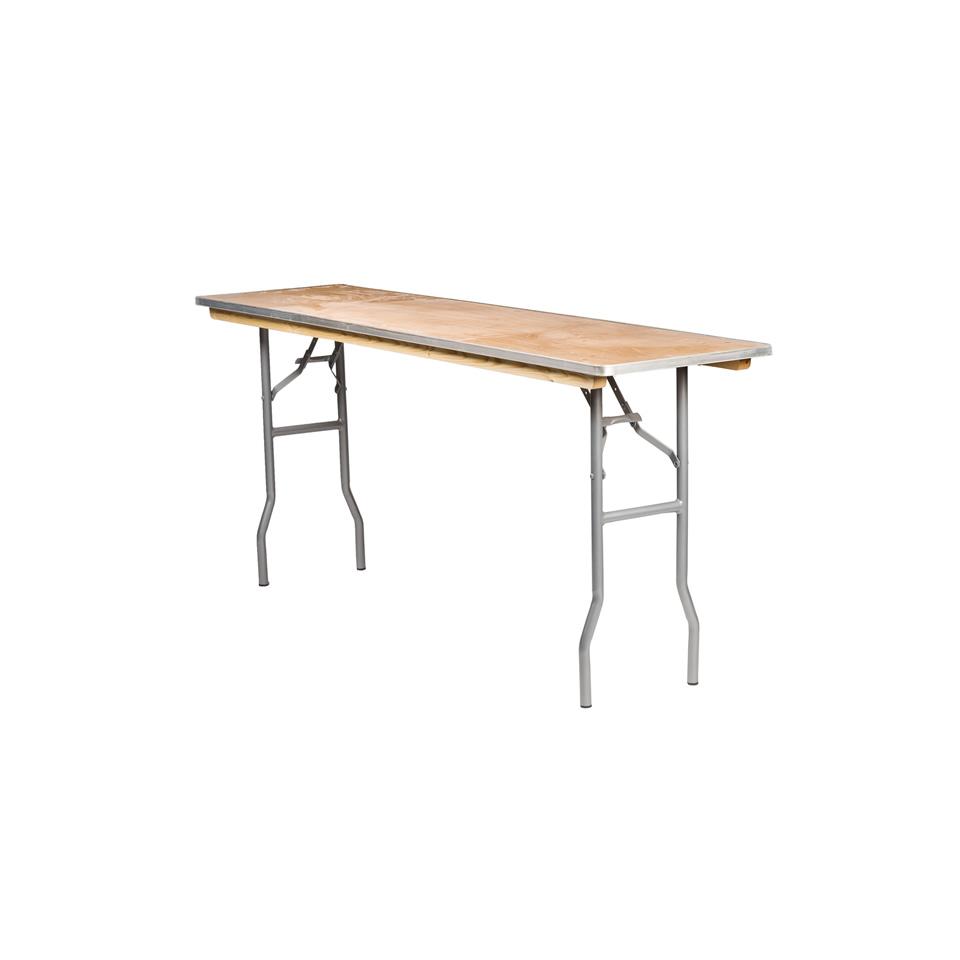 6 39 x18 classroom tables a chair affair inc for Folding table 6 x 4