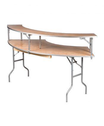 7ft Serpentine Bar Top Tables - A Chair Affair