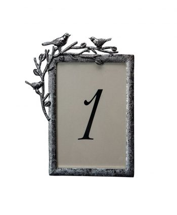Aviary Silver Table Number - A Chair Affair