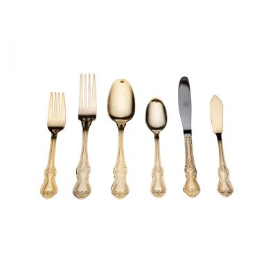 Baroque Gold Flatware; Dinner Fork