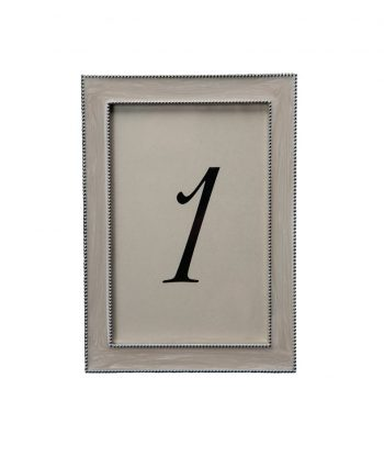 Beaded Pearl White Table Number - A Chair Affair