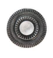 Black Deco Glass Charger – A Chair Affair