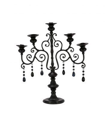Black Three Candle Candelabra - A Chair Affair