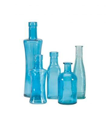 Blue Glass Vases - A Chair Affair