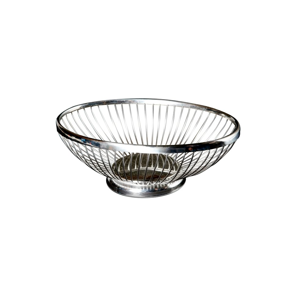 Silver Wire Oval Bread Baskets - A Chair Affair, Inc.