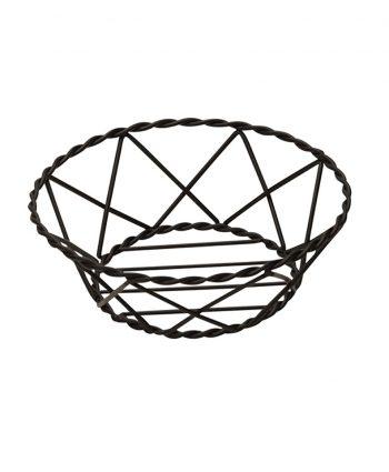 Bread Basket Black Metal - A Chair Affair