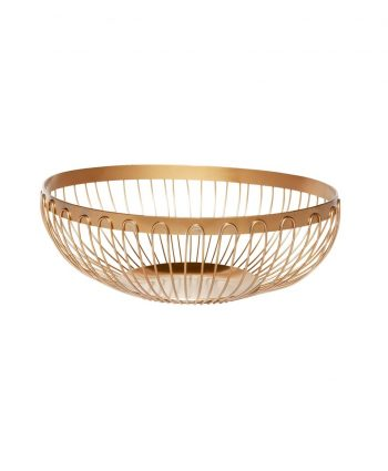 Bread Basket Gold Wire - A Chair Affair