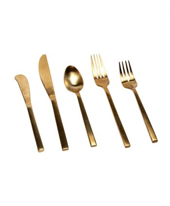 Brushed Gold Flatware A Chair Affair