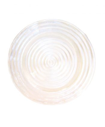 Clear Swirl Glass Charger - A Chair Affair