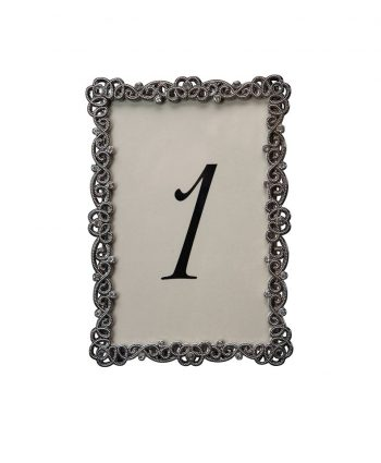 Couture Pewter Table Number - A Chair Affair
