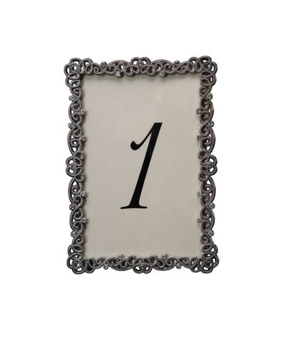 Couture Pewter Table Number – A Chair Affair