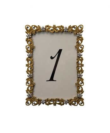 Flazen Gold Table Number - A Chair Affair