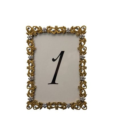 Flazen Gold Table Number – A Chair Affair