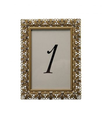 Floradora Gold Table Number - A Chair Affair