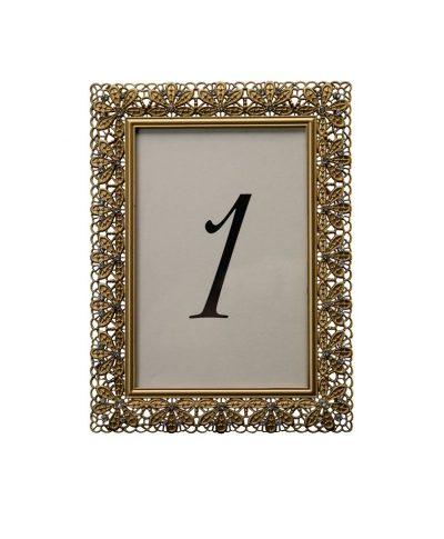 Floradora Gold Table Number – A Chair Affair