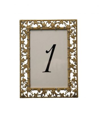 Gold Ivy Table Number - A Chair Affair