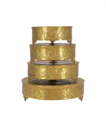 Gold Round Cake Stand - A Chair Affair