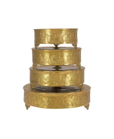 Gold Round Cake Stand – A Chair Affair
