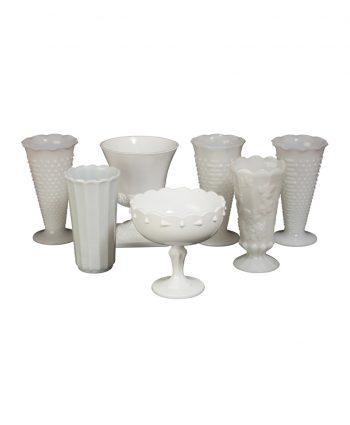 Large Milk Glass Vases - A Chair Affair