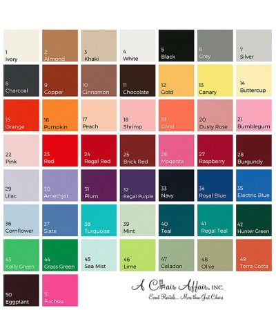 Linen Names – All Colors – A Chair Affair