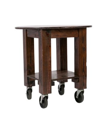 Mahogany Rolling Wood TableMahogany Rolling Wood Table