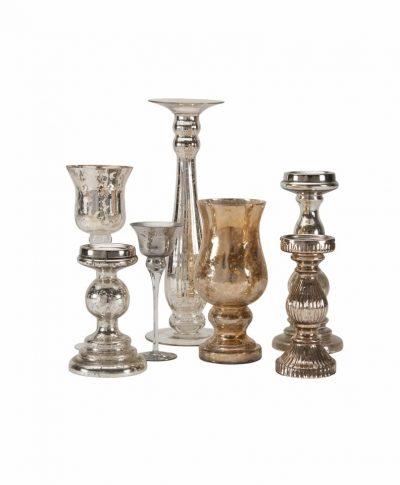 Mercury Glass Candlesticks – A Chair Affair
