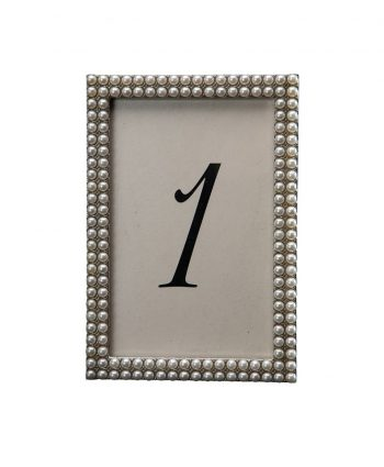 More Pearls Table Number - A Chair Affair