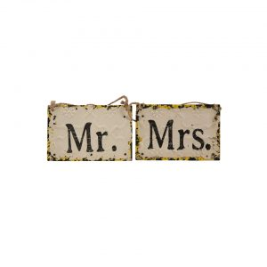 Mr And Mrs Rustic Sign - A Chair Affair