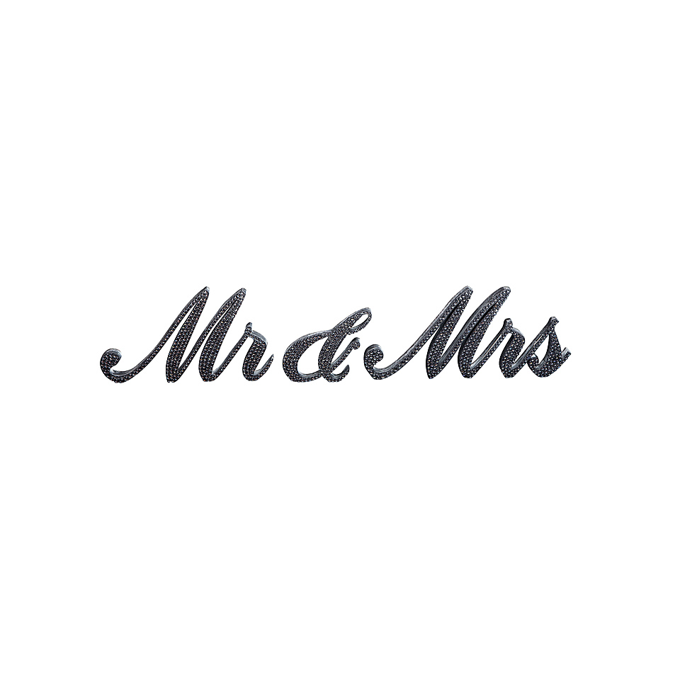 Mr And Mrs Bling Sign A Chair Affair Inc