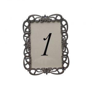 Risque Silver Table Number - A Chair Affair