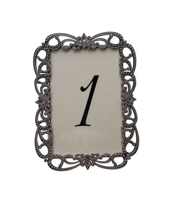 Risque Silver Table Number - A Chair Affair