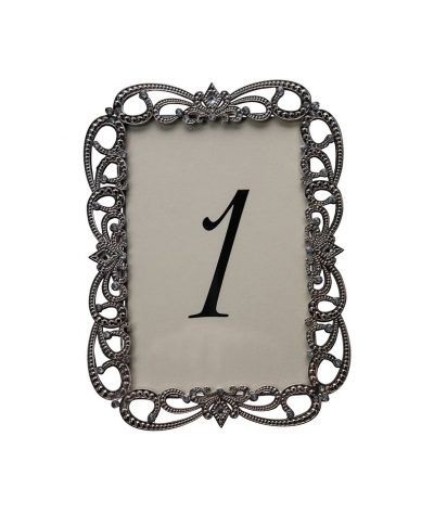 Risque Silver Table Number – A Chair Affair