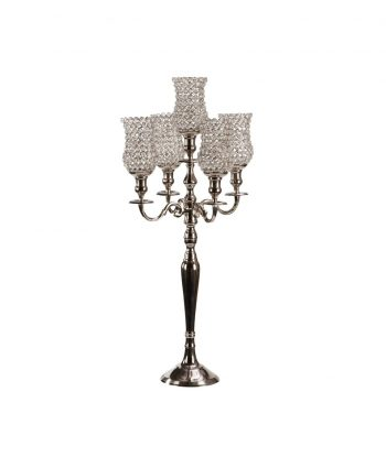 Silver Bling Candelabra - A Chair Affair