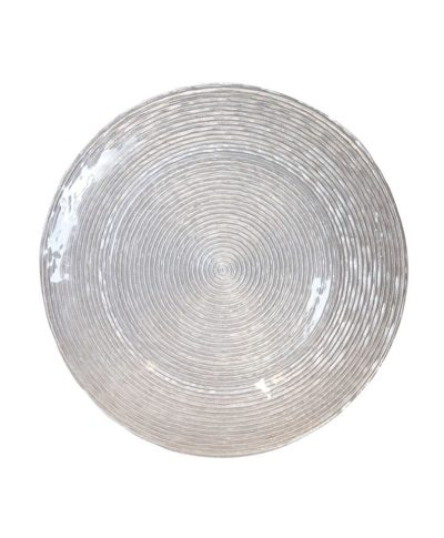 Silver Glitter Spiral Glass Charger – A Chair Affair