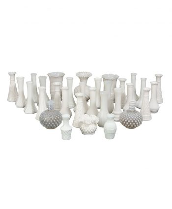 Small Milk Glass Vases - A Chair Affair