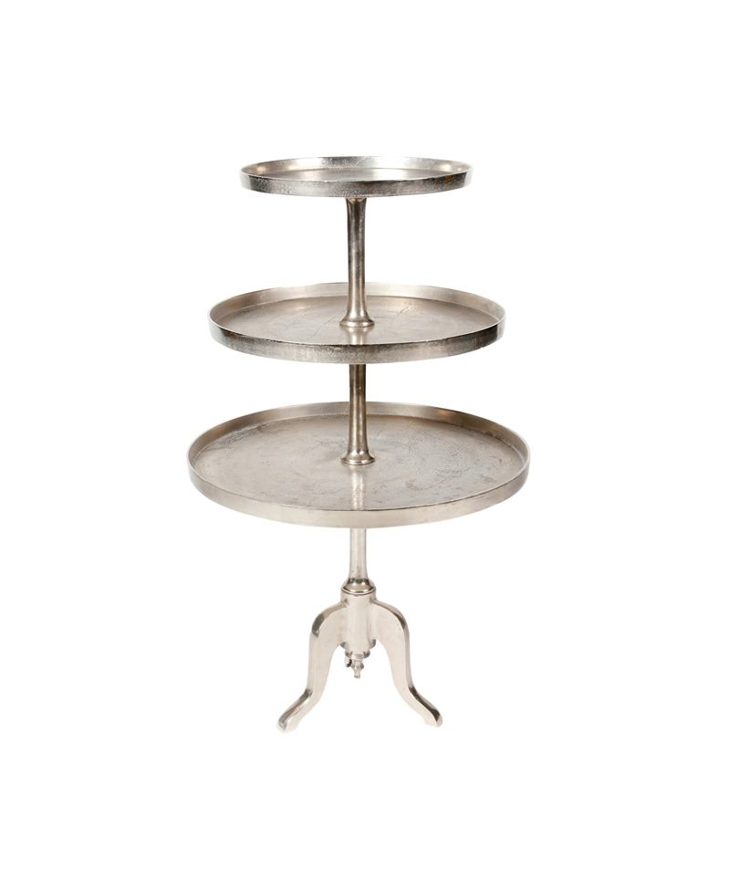 53 Silver Dessert Stand 3 Tiers A