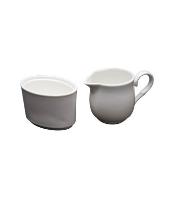 White China Creamer and Sugar Holder - A Chair Affair