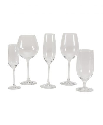 crystal stemware - a chair affair