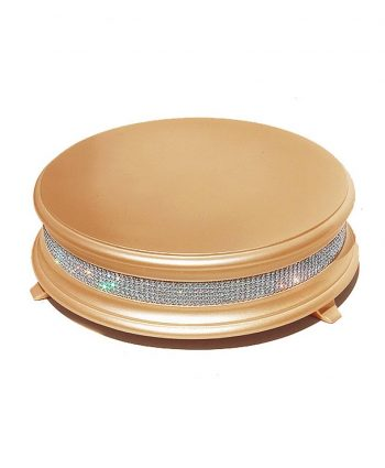 gold diamond wedding cake stand - a chair affair