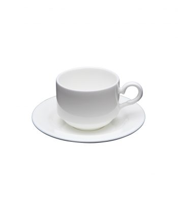 white china demitasse cup and saucer - a chair affair