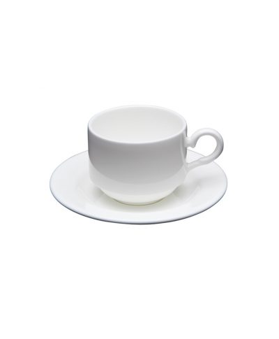 white china demitasse cup and saucer – a chair affair