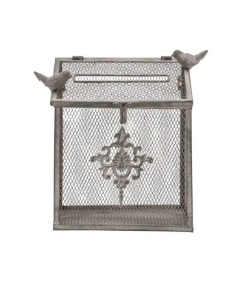 wrought iron bird cage card box - a chair affair