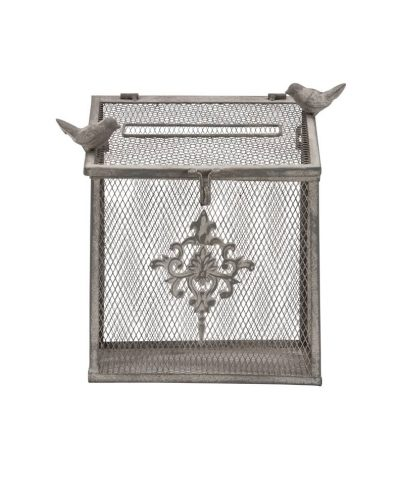 wrought iron bird cage card box – a chair affair