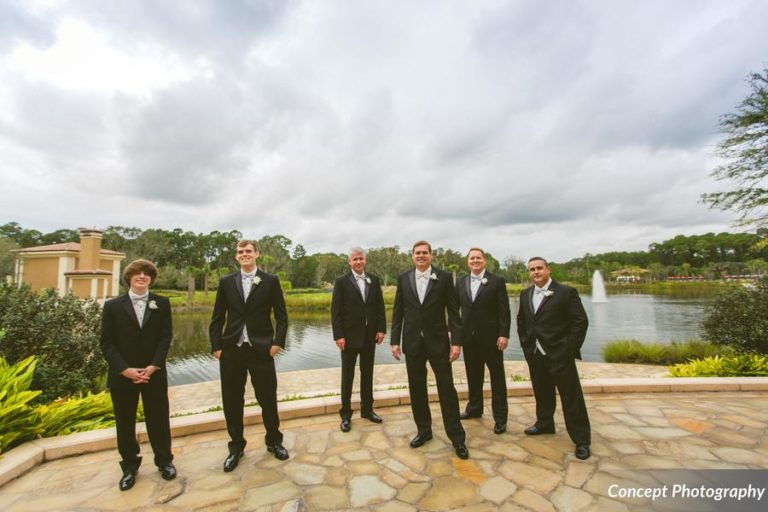 Pink and Silver Wedding, Groomsmen