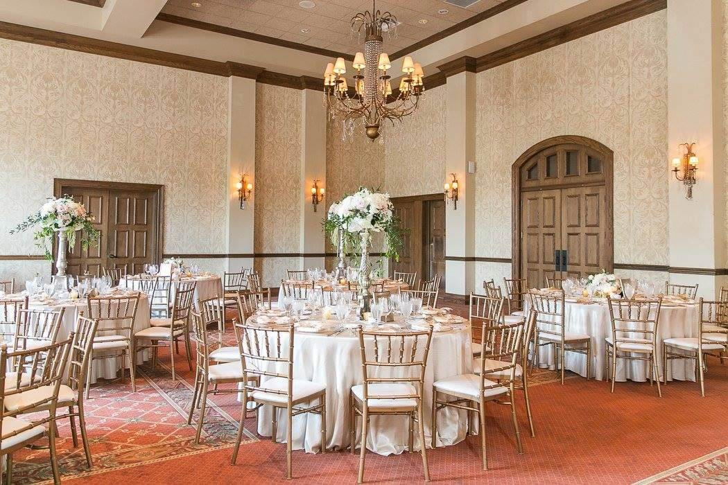blush and gold wedding chiavari chairs reception decor & Orlando Country Club Wedding Blush Pink u0026 Gold - A Chair Affair Inc.