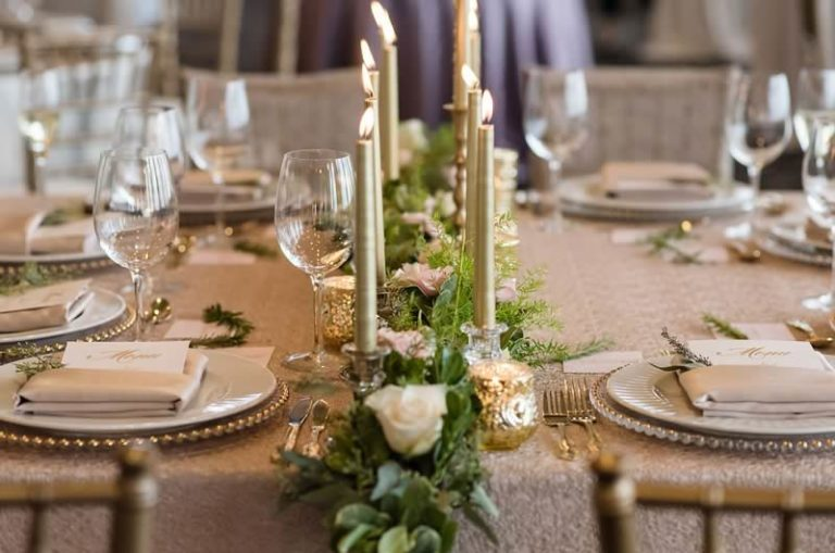 citrus club styled wedding shoot table setting