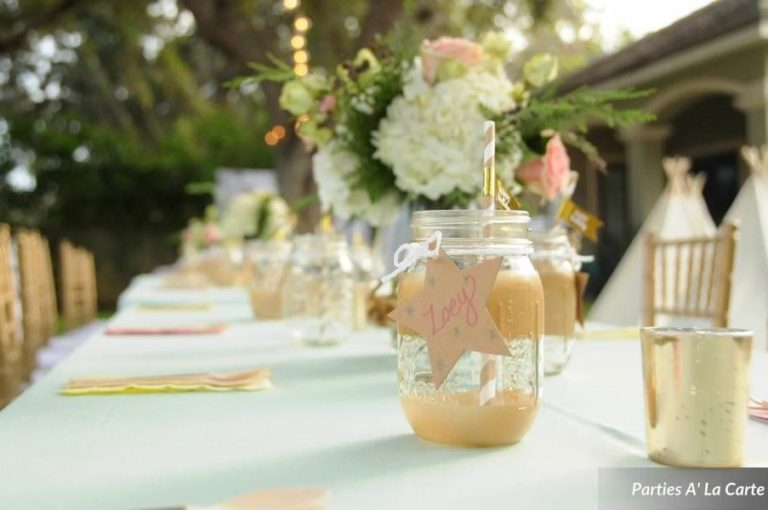 glamping soiree drink decor