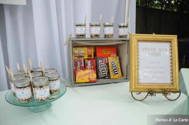glamping soiree snack bar